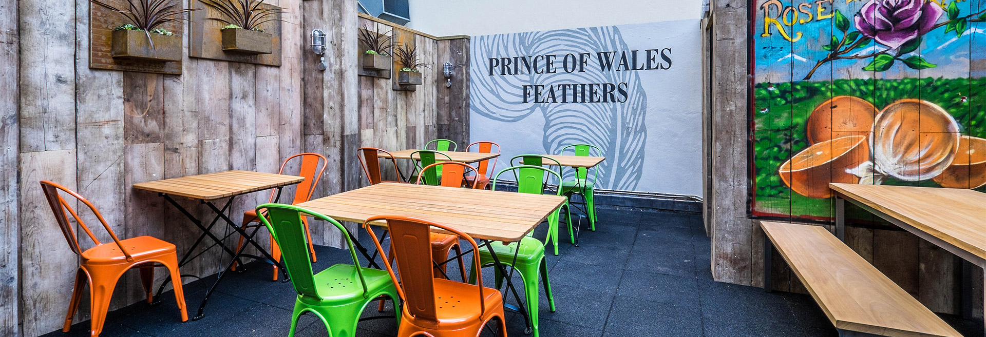 The Garden at The Prince of Wales Feathers